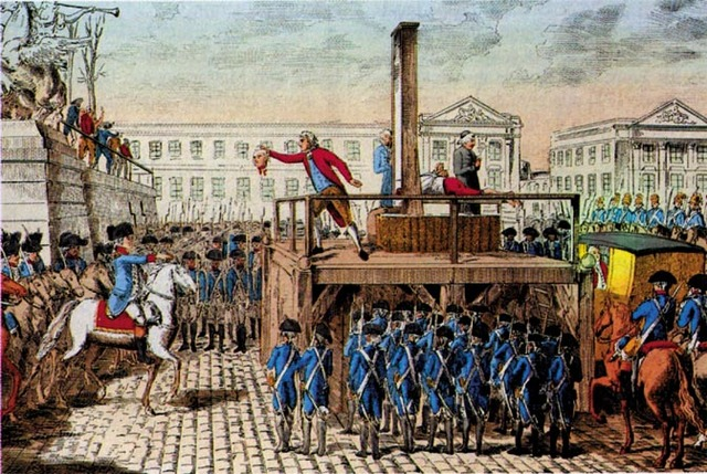Rei Luís XVI é guilhotinado