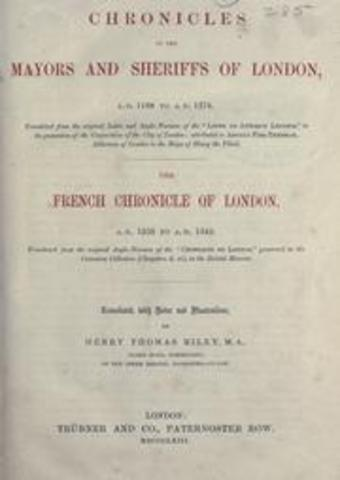 Thomas selected as the two Sheriffs in London