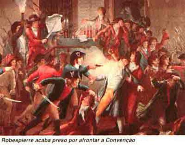 Robespierre e companheiros vão para a guilhotina