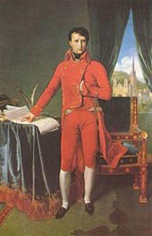 Napoleão acumula vitorias na guerra