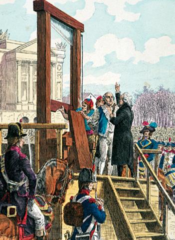Luis XVI é guilhotinado.