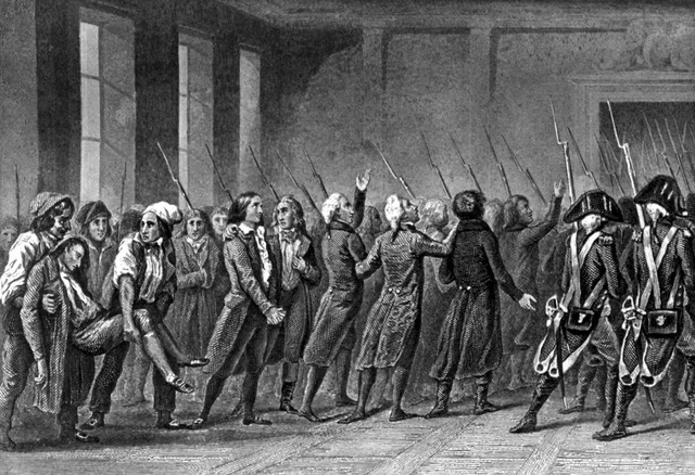 Ascensão de Dalton, Saint-Just, Ropespierre e outros jacobinos