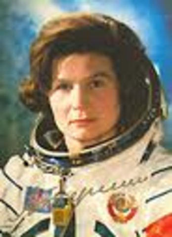 First woman goes into space