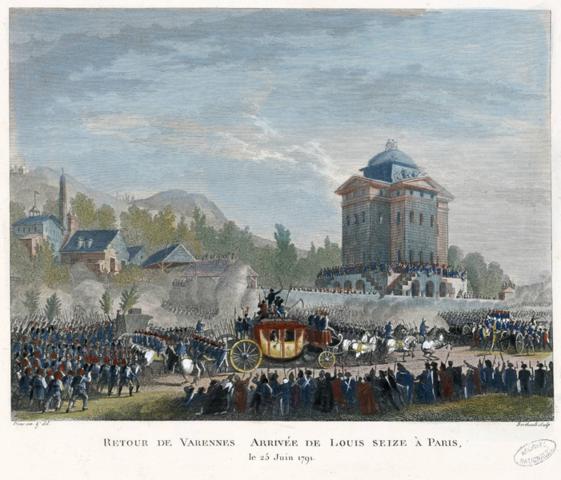 Luís XVI voltou para Paris