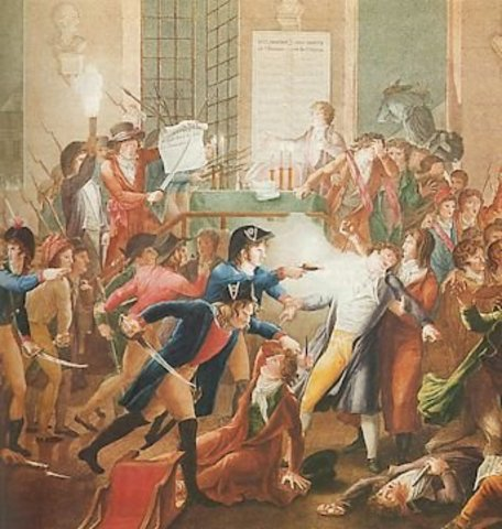 Robespierre, Saint-Just e companheiros são assasinados