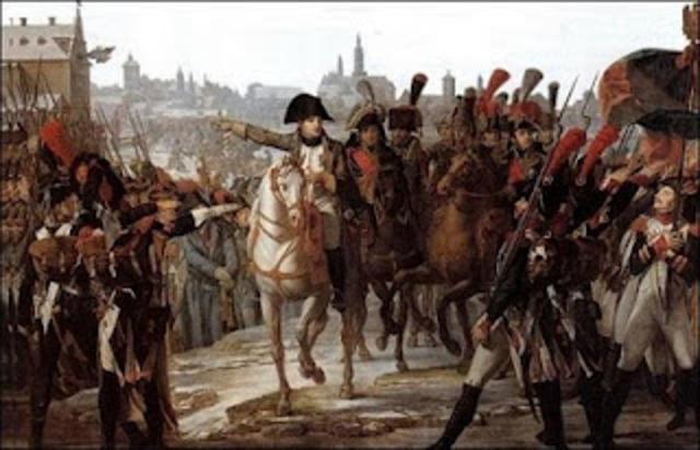 Napoleão vence os Austríacos na Itália