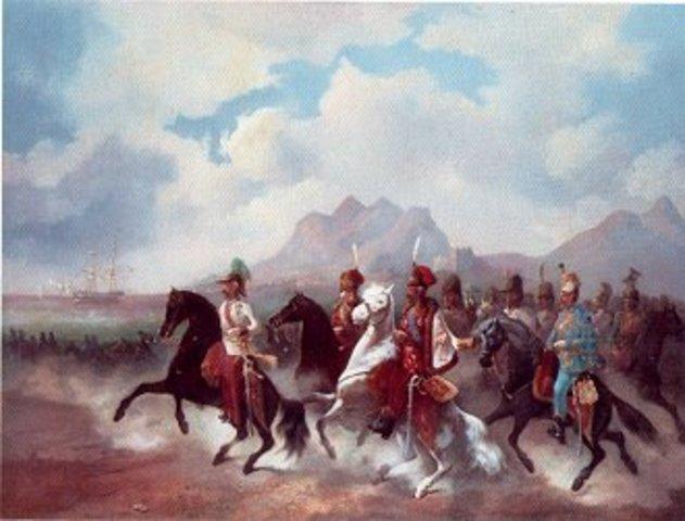 Guerra contra a Áustria e a Prússia.
