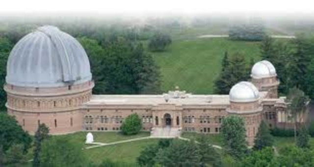 Hubble receives PhD at Yerkes Observatory at the University of Chicago 1917(exact date not found)