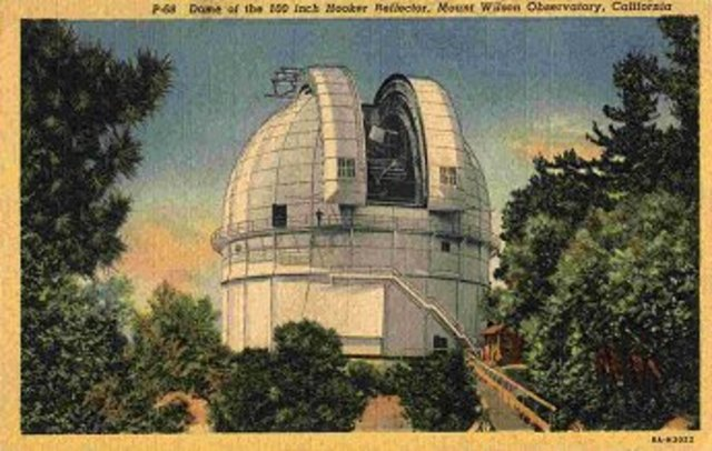 Hubble began work at Mt Wilson Observatory, using Hooker Telescope, both the 60 and 100 in lense models, right after his army service in WWI  (exact date not found)