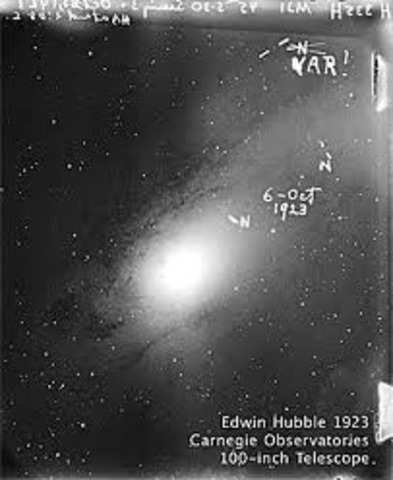 Hubble used Cepheid variable that can be used to measure distances to deduce that Andromeda was not a star cluster but another galaxy