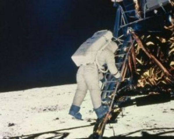 Neil Armstrong sets foot on the Moon.