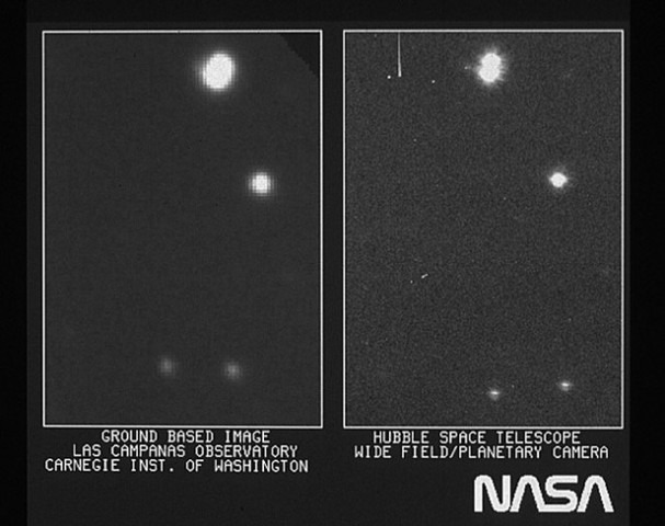 1st photo from Hubble returns to Earth: a very fuzzy images