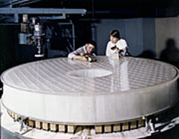 """""""Hubble Trouble"""" press conference; primary mirror too flat by 1/50th of the thickness of a sheet of paper"""