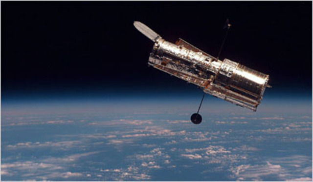 Hubble Space Telescope is launched.