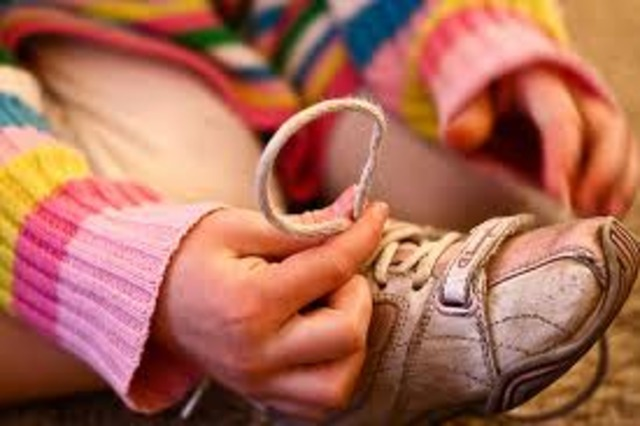 I can tie my shoes!