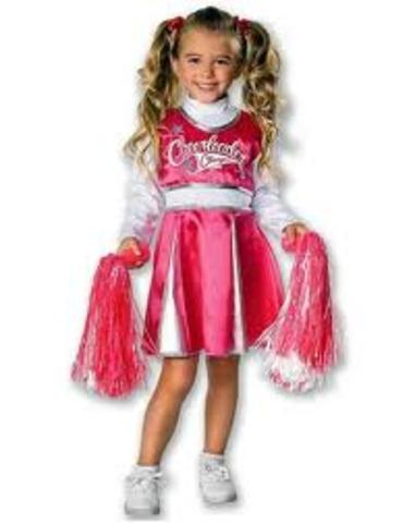 Freshmen cheerleader for the Livonia Orioles