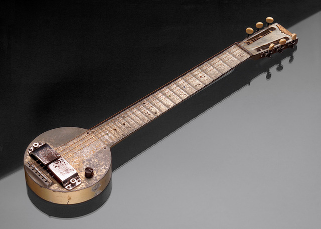 First electric guitar designed