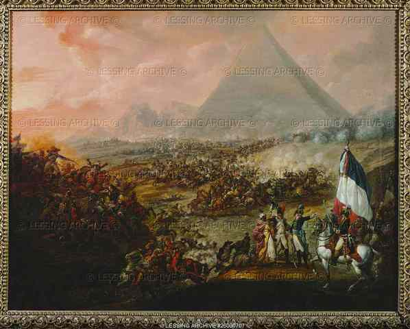 End of the battle of the Pyramids