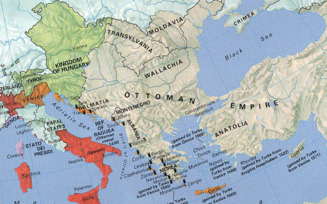 Ottoman Empire blocks Europe from the Indies by land