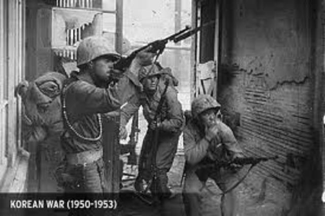 North and South korea war.