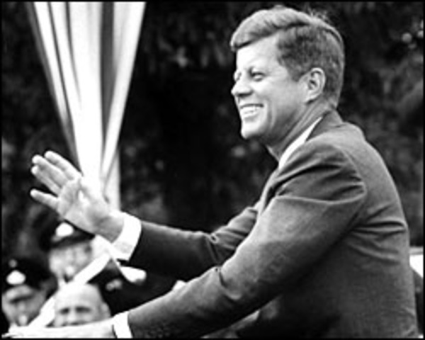 John F. Kennedy's assasination and funeral aired on television