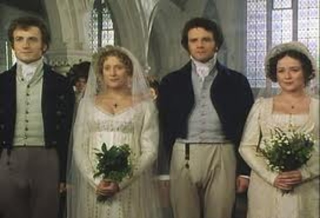 Mr. Darcy and Elizabeth and Mr. Bingely and Jane get married.