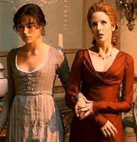 Elizabeth travels by foot to Netherfield to be with Jane