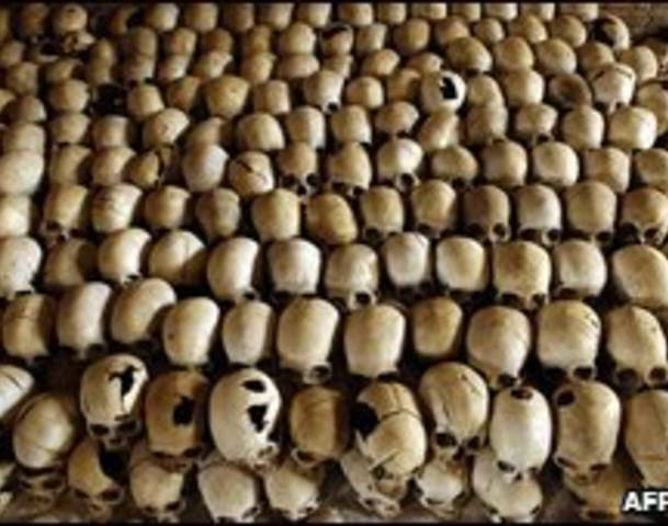 Massacre at the Nyarubuye Roman Catholic Church - thousands of Tutsi are killed, first by grenades and guns and then by machetes and clubs.