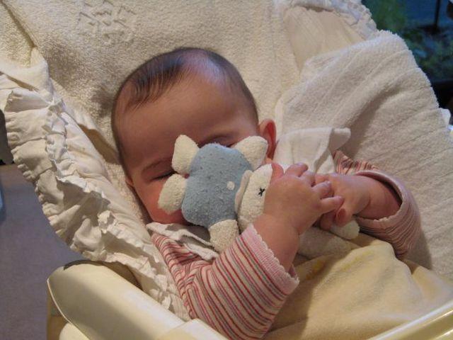 Cuando you tenía dos años, yo dormía con un oso de conejito,