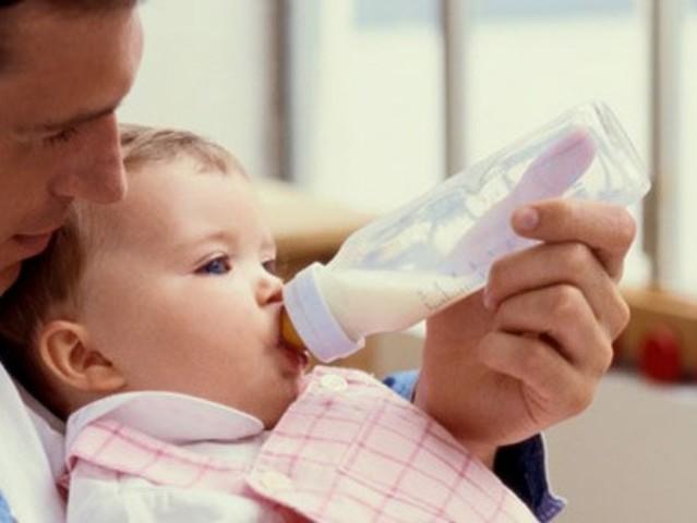 Cuando you tenía tres años, yo bebía leche porque era muy sabroso,