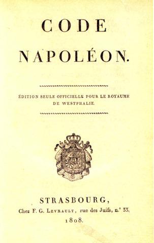 The Code Napoleon 1804