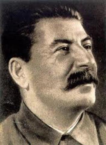Josef Stalin is sole dictator of the Soviet Union