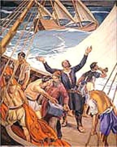 Dias sails around the tip of Africa