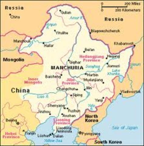 Japanese army seizes Manchuria