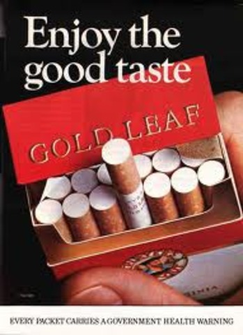 Cigarette ads banned from TV