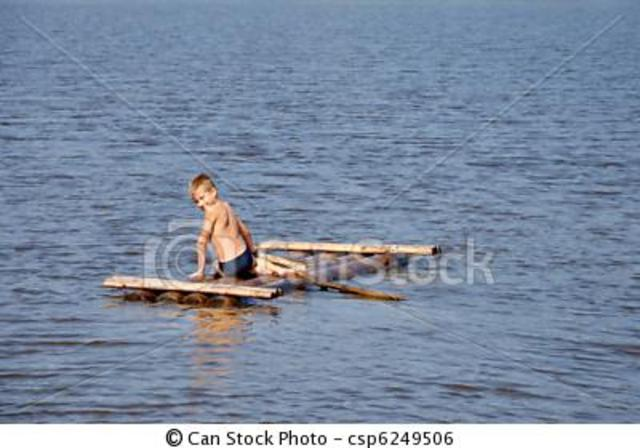phillip is on a raft with timothy, a ugly black man, and stew cat