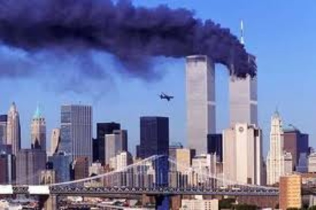 TERRORISTS ATTACK TWIN TOWERS