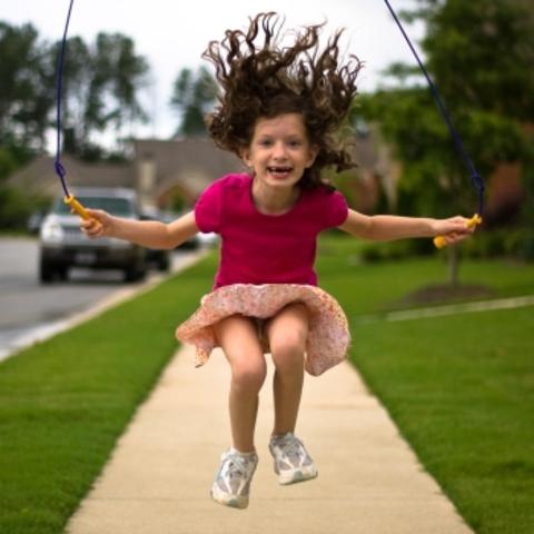 Cuando yo tenía dien años, yo saltaba a la cuerda.