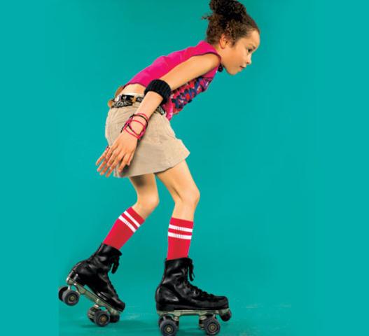 Cuando yo tenía once años, yo patinaba con mis amigos.