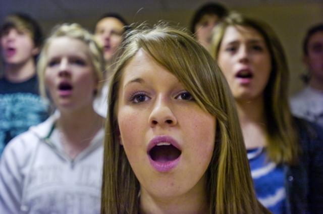 Cuando yo tenía nueve años, yo tomaba la clase de coro.