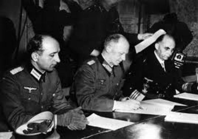 Acuerdo para la rendicion de tropas alemanas en Italia