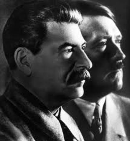Hitler and Stalin sign a nonaggression pact