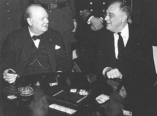 Roosevelt and Churchill issue the Atlantic Charter