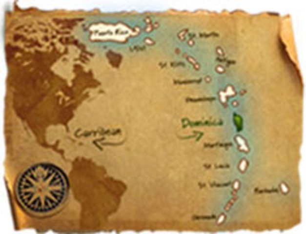Columbus lands on Dominica!