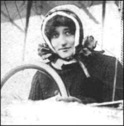 Baroness Raymonde de Laroche passes her qualifiying tests to become the first woman in the world to be issued a pilot's license.
