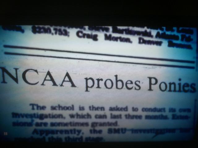 NCAA begins to investigate SMU football.