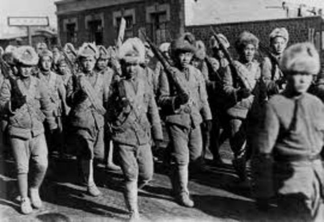 Japans army seizures Manchuria, China