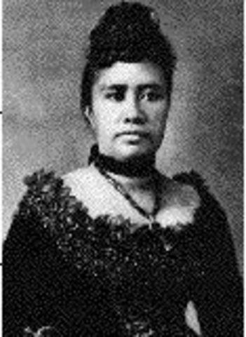 Overthow of Queen Lydia Liliuokalani