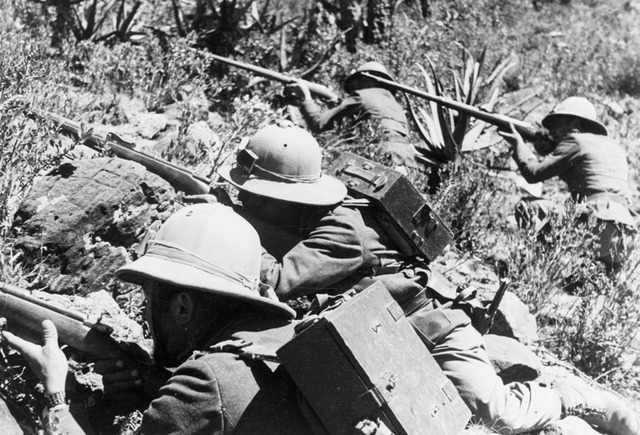 Italian army invades Ethopia in Africa