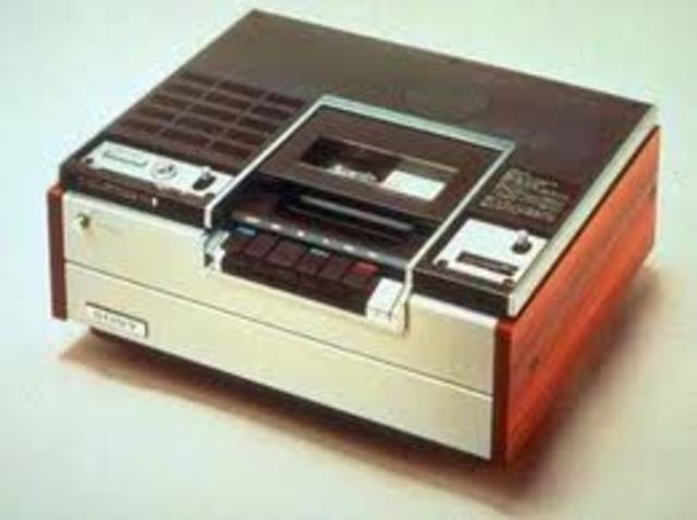 •	Betamax VCR's released